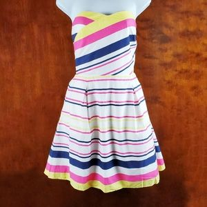 LILLY PULITZER Felicity Stripe Strapless Dress 8